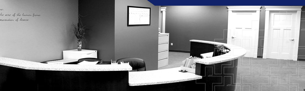 Relief Plus Chiropractic reception desk