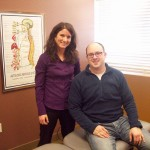 chiropractic doctor and her satisfied customer